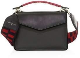 Les Petits Joueurs Mini Pixie Tartan& Leather Shoulder Bag