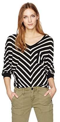 Velvet by Graham & Spencer Women's Cotton Modal Stripe Dolman Top