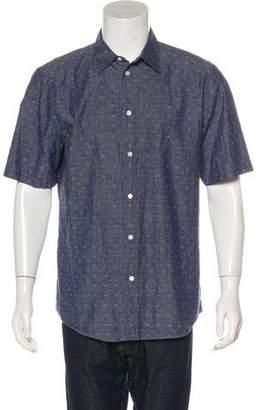 Louis Vuitton Logo Jacquard Chambray Shirt