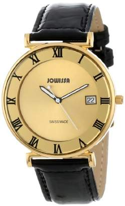 Jowissa Women's J2.047.L Strada Gold Stainless-Steel Roman Numerals Patent Leather Date Watch