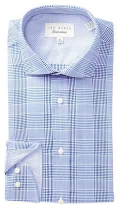 Ted Baker Check Trim Fit Dress Shirt