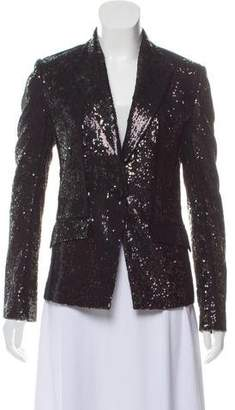Unconditional Sequin-Accented Single-Breasted Blazer