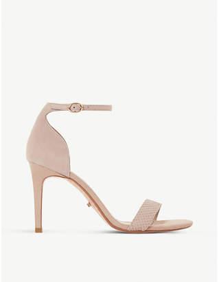 Dune Mortimer suede heeled sandals