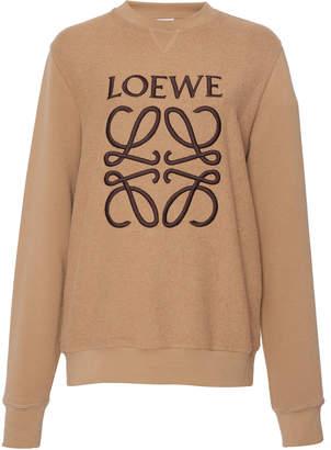 Loewe Logo-Printed Cotton-Jersey Sweatshirt
