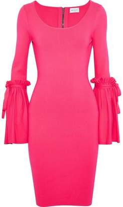 Milly Ruffle-Trimmed Stretch-Knit Dress