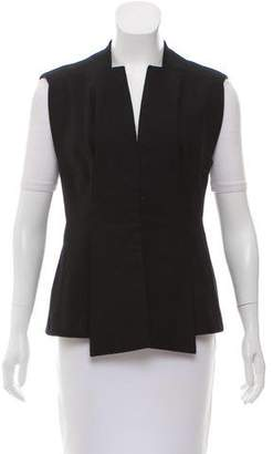Givenchy Embroidered Pleated Vest