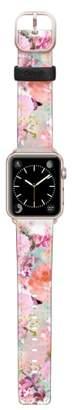 CASETIFY Romantic Watercolor Flowers Saffiano Faux Leather Apple Watch Strap