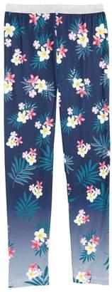 Truly Me Embellished Floral Print Leggings