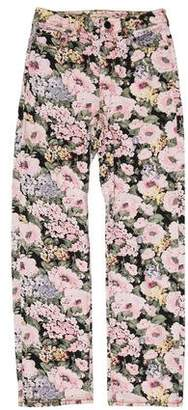 Rebecca Taylor Floral Mid-Rise Jeans