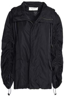Marni Gathered Shell Hooded Jacket