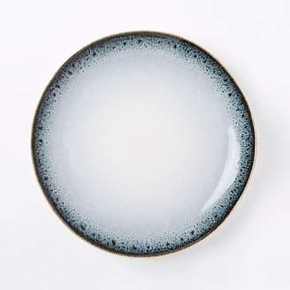 west elm Reactive Glaze Dinner Plates (Set of 4) - Black/White