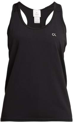 Calvin Klein Logo Print Stretch Jersey Tank Top - Womens - Black