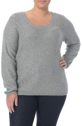 NYDJ Sequin Scoop Neck Sweater