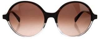 Diane von Furstenberg Round Two-Tone Sunglasses