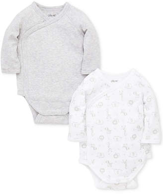 Little Me Baby Boys or Girls 2-Pack Kimono-Style Cotton Bodysuits