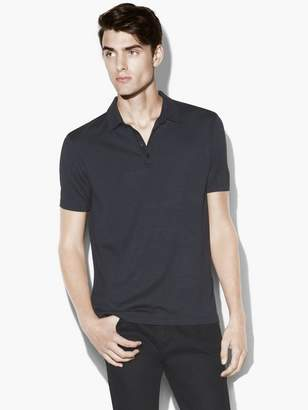 John Varvatos Silk Cotton Hampton Polo