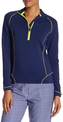 Peter Millar 1/2 Zip Coverstitch Layer Pullover Jacket $89.50 thestylecure.com