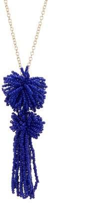 BaubleBar Rishita Beaded Tassel Pendant Necklace