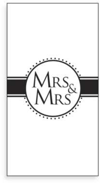 Mrs. & Mrs. 16-Pack Guest Towels