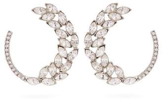 Oscar de la Renta Crystal Hoop Earrings - Womens - Silver