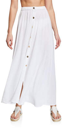 Melissa Odabash Dru Button-Front Maxi Skirt Coverup