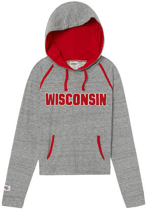 PINK University Of Wisconsin Bling Crossover Perfect Pullover