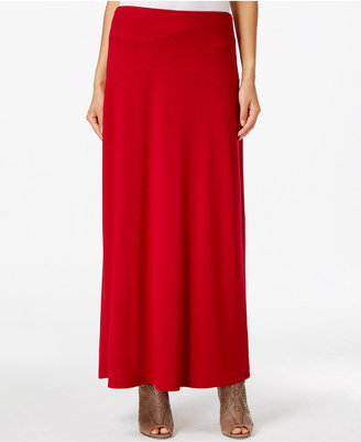 ECI Solid Maxi Skirt $60 thestylecure.com