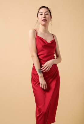 Azalea Spaghetti Strap Cowl Neck Slip Dress