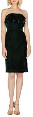 Adelyn Rae Holiday Simone Knit Velvet Dress