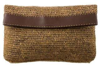 Michael Kors Raffia Fold-Over Clutch