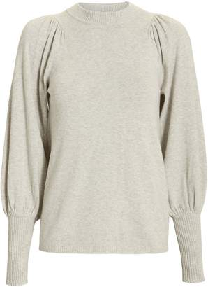 Apiece Apart Dewi Ballon Sleeve Crewneck Sweater