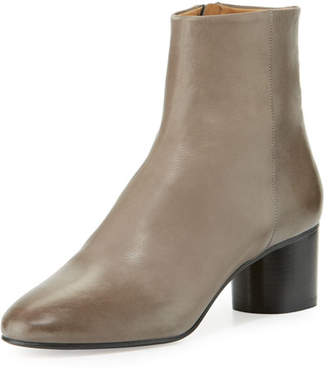 Isabel Marant Danay Burnished Leather Ankle Boot, Gray