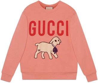 Gucci Oversize sweatshirt with lamb patch