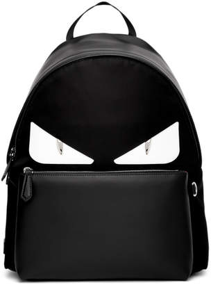 Fendi Black and White Bag Bugs Backpack
