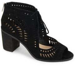 Tarita Block-Heel Leather Sandals
