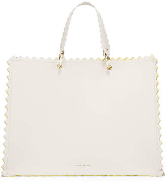 Sara Battaglia Helena Leather Metallic Tote Bag