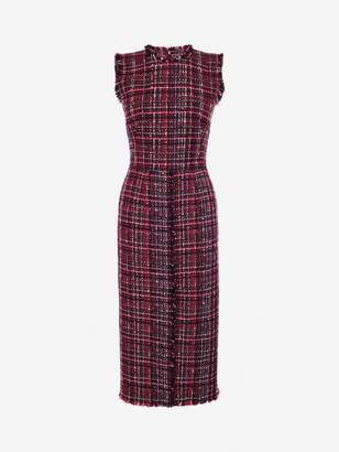 Alexander McQueen Tweed Midi Dress