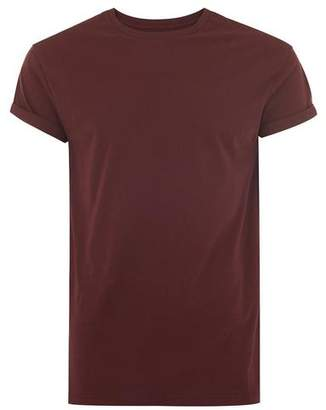 Topman Mens Red Burgundy Muscle Fit T-Shirt