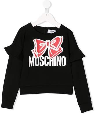 Moschino Kids bow print sweatshirt