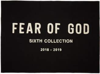 Fear Of God ブラック シェニール エンブロイダリー ブランケット