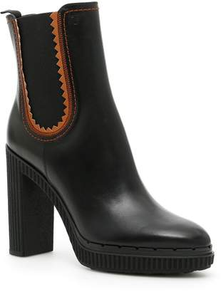Tod's Leather Booties With Elastic Sides