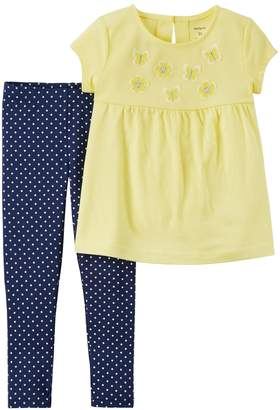 Carter's Baby Girl Butterfly Tunic Top & Polka-Dot Leggings Set