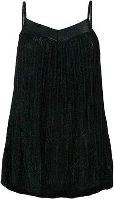 Roberto Collina pleated knitted top