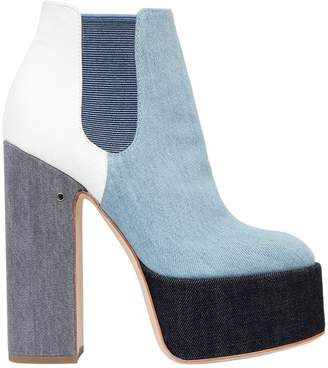 Laurence Dacade 150mm Laurence Patchwork Denim Boots
