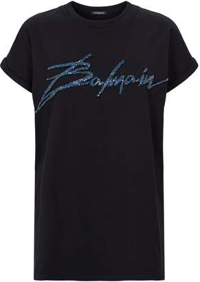 Balmain Embellished Signature T-Shirt