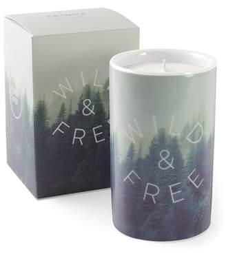Fringe Studio Green Wild & Free Porcelain Tall Candle
