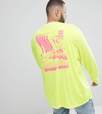 Puma Plus Long Sleeve T-Shirt With Graphic Print In Yellow Exclusive To Asos