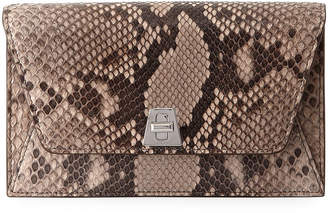 Akris Anouk Python Envelope Clutch Bag