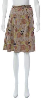 Dries Van Noten Jacquard Midi Skirt