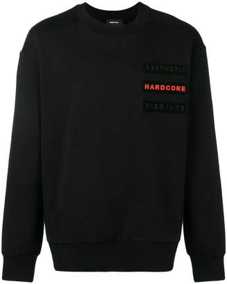 Diesel Sweatshirt with velcro patches